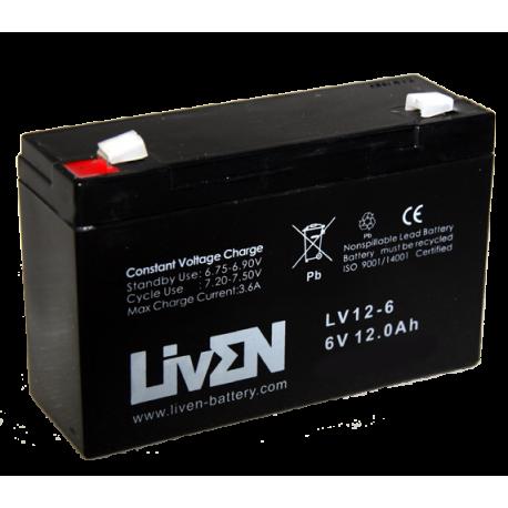 LivEN LV12-6 / 12Ah 6V