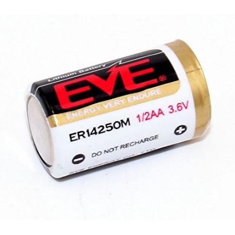 Batería Pila litio EVE ER14250M 3,6V 1200mAh 1/2AA / 10 UNIDADES