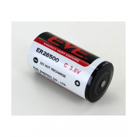 Bateria Pila litio EVE ER26500M Tamaño C  3.6V 6.000mAh
