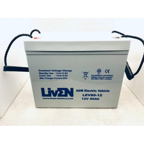 LivEN LEV80-12 80Ah 12V