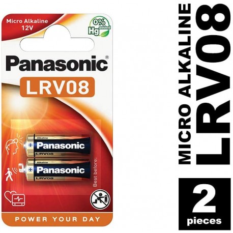 Pila alcalina PANASONIC LRV08 blisters 2 unidades