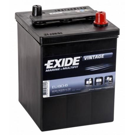 EXIDE EU80-6  80Ah 6V